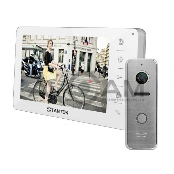 Комплект видеодомофона Видеодомофон Tantos Amelie комплект с вызывной панелью на 115 градусов