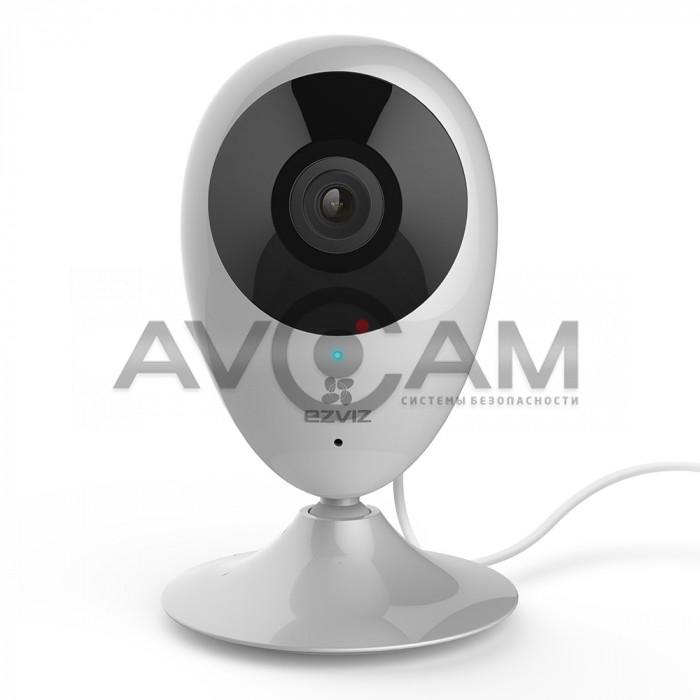 Компактная IP видеокамера миникорпусная с WIFI и со звуком Ezviz CS-CV206-C0-3B2WFR (C2C 1080р)
