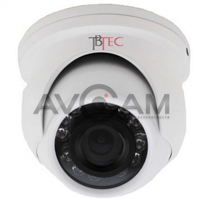 Купольная цветная антивандальная AHD видеокамера  TBTEC TBC-A3381HD