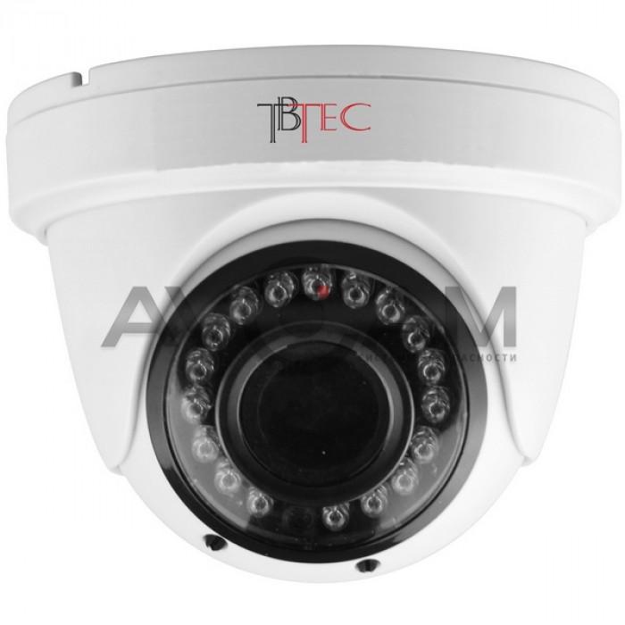 Купольная цветная AHD видеокамера  TBTEC TBC-A2474HD