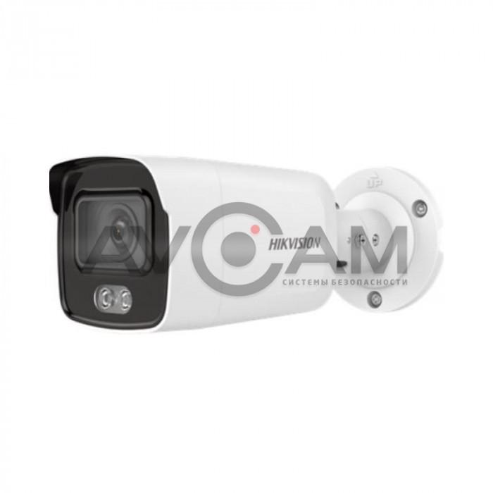 Уличная IP видеокамера c цветной ночной подсветкой  Hikvision DS-2CD2047G2-LU