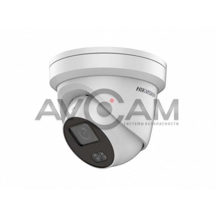 Уличная купольная IP видеокамера с цветной ночной подсветкой Hikvision DS-2CD2347G1-L