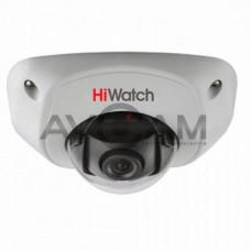 Внутренняя купольная HD-TVI видеокамера с ИК подсветкой HiWatch DS-T251 5