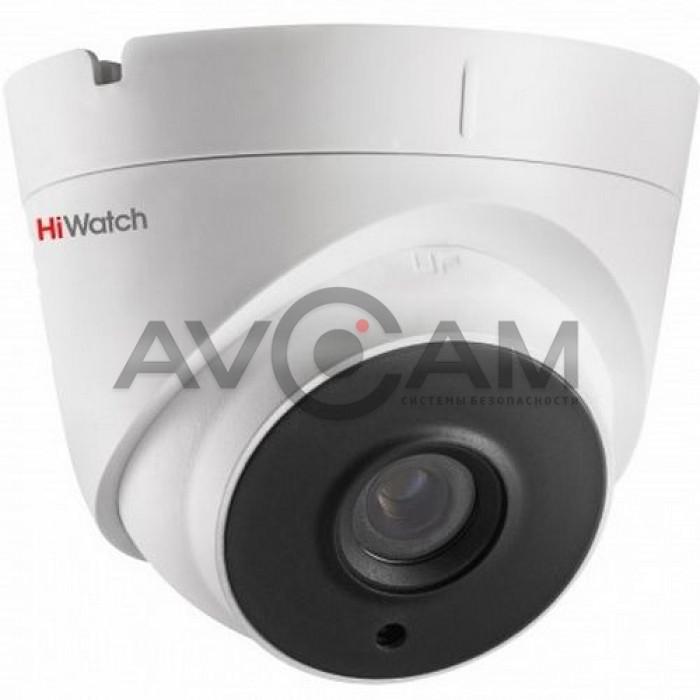 Уличная купольная HD-TVI видеокамера с ИК подсветкой HiWatch DS-T123