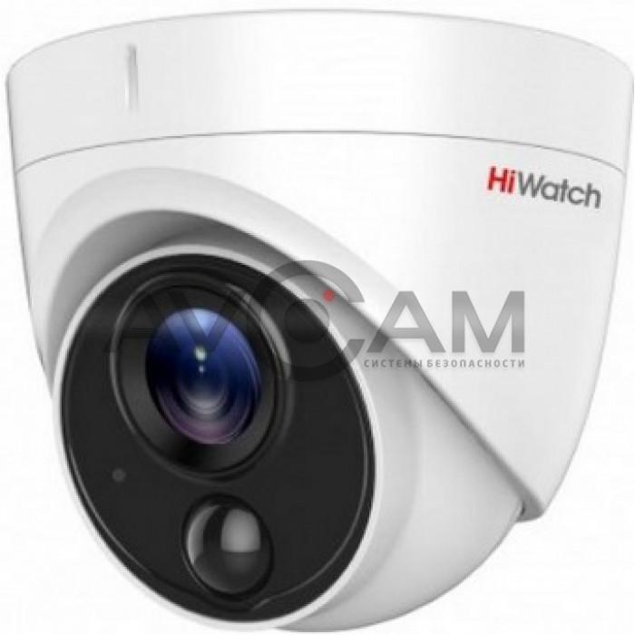 Уличная купольная HD-TVI видеокамера HiWatch DS-T213(B)