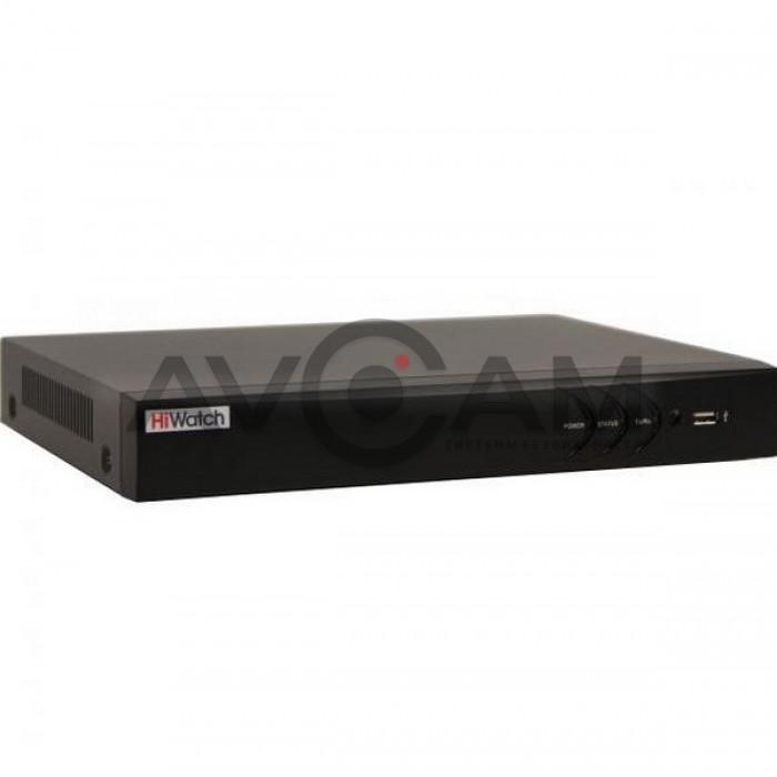 16-ти канальный гибридный HD-TVI видеорегистратор HiWatch DS-H216QP с поддержкой PoC камер