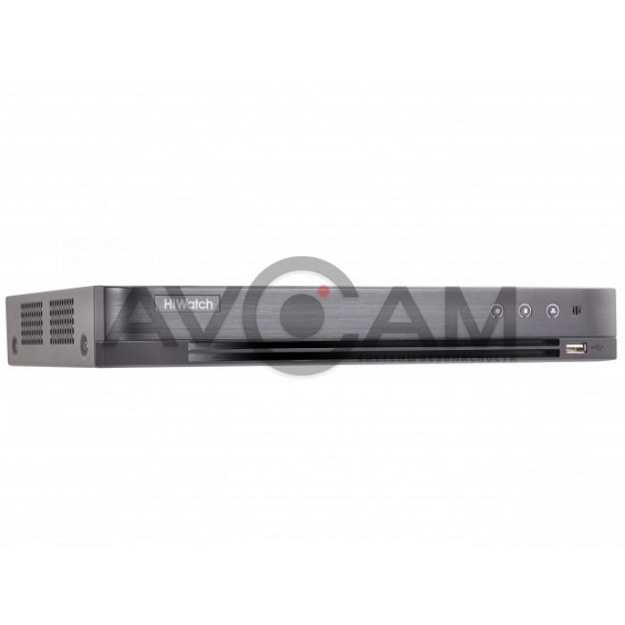 4-х канальный гибридный HD-TVI видеорегистратор HiWatch DS-H304QAF