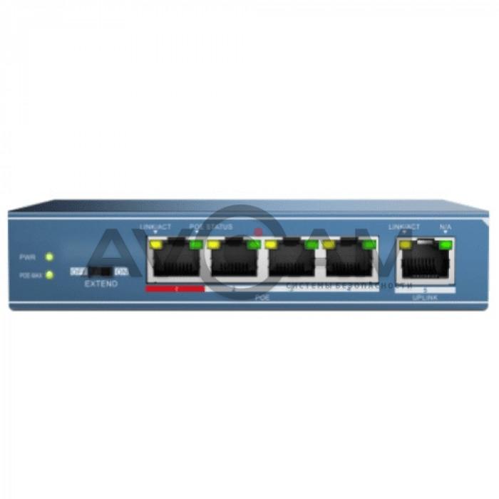 Неуправляемый Fast Ethernet PoE-коммутатор HiWatch DS-S504P(B)
