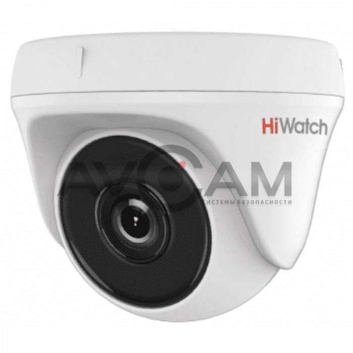 Уличная купольная HD-TVI видеокамера HiWatch DS-T133