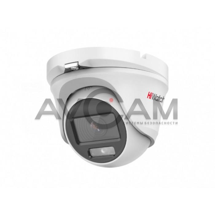 Уличная купольная HD-TVI видеокамера HiWatch DS-T203L