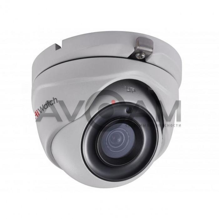 Уличная купольная HD-TVI видеокамера HiWatch DS-T203P(B)