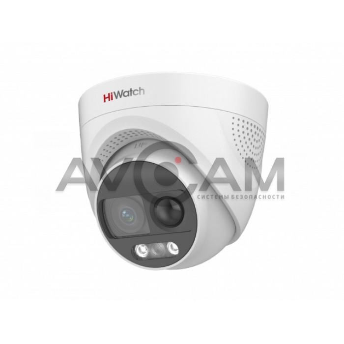 Уличная купольная HD-TVI видеокамера HiWatch DS-T213X