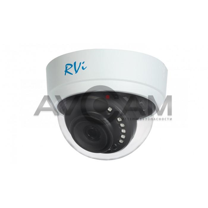 Купольная мультиформатная HD видеокамера RVi-1ACD202 (2.8) white