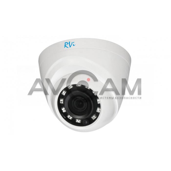 Купольная мультиформатная HD видеокамера RVi-1ACE200 (2.8) white