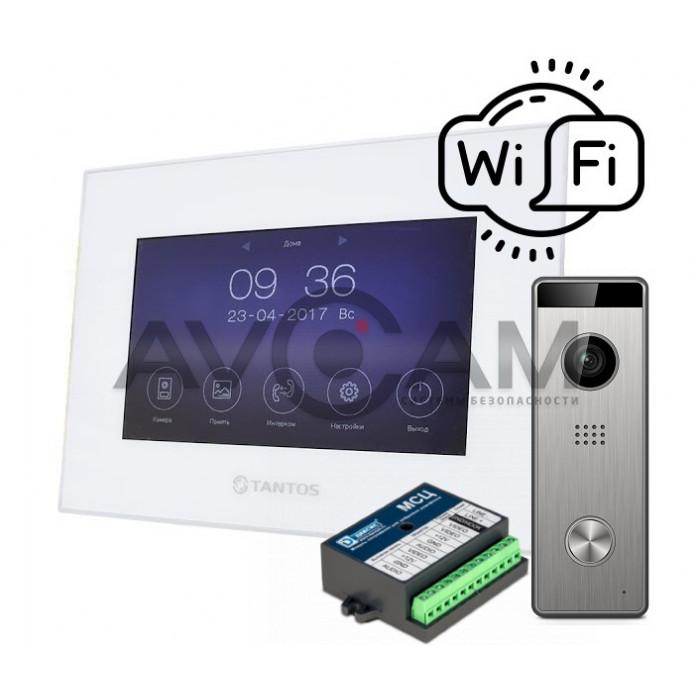 Комплект IP видеодомофона Tantos Marilyn HD + вызывная панель Triniti HD + Блок сопряжения Даксис МСК
