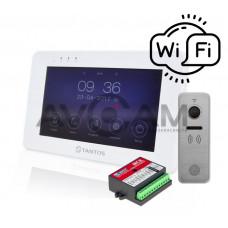 Комплект видеодомофона Tantos Rocky WIFI+ вызывная панель 110 градусов Ipanel 2 + координатный блок сопряжения Даксис МСК