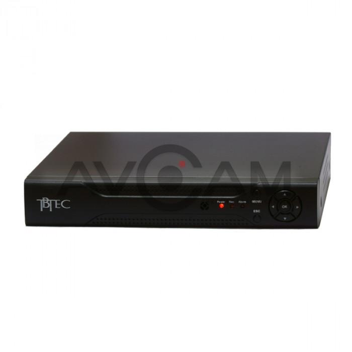4-х канальный Гибридный 5-ти Мегапиксельный Видеорегистратор TBTEC TBR-H1404HD
