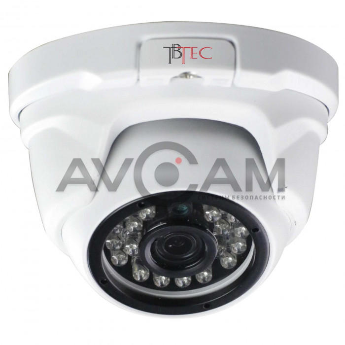 Купольная уличная IP видеокамера  TBC-i3325IR
