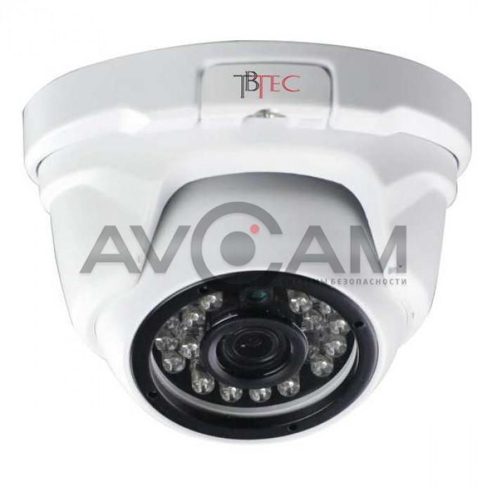 Купольная антивандальная AHD видеокамера  TBC-A3271HD