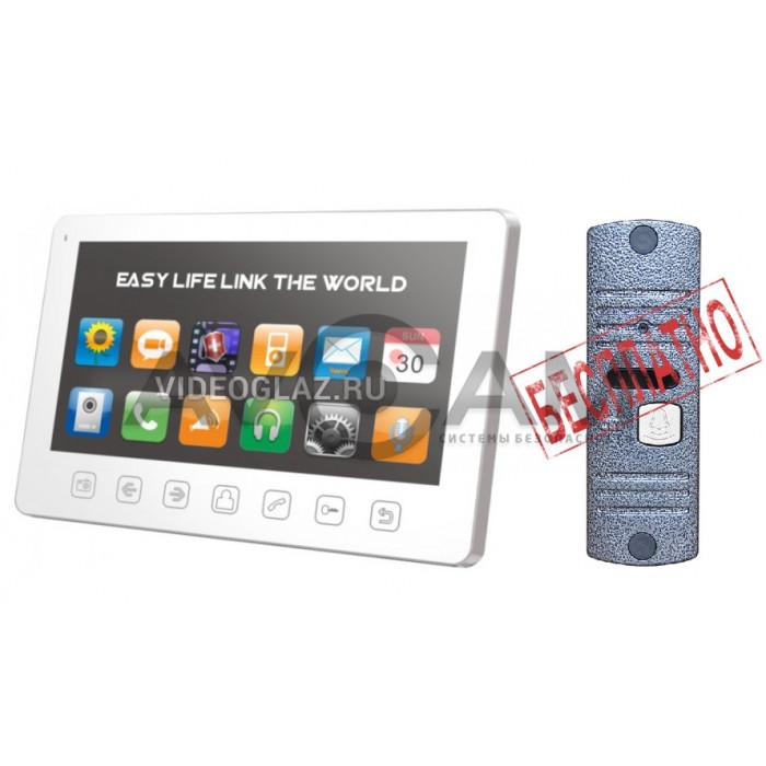 Комплект видеодомофона Tantos Prime Slim с вызывной панелью