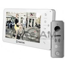 Комплект цветного видеодомофона Tantos Amelie с вызывной металлической панелью