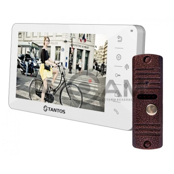 Видеодомофон Tantos Amelie комплект с вызывной антивандальной панелью