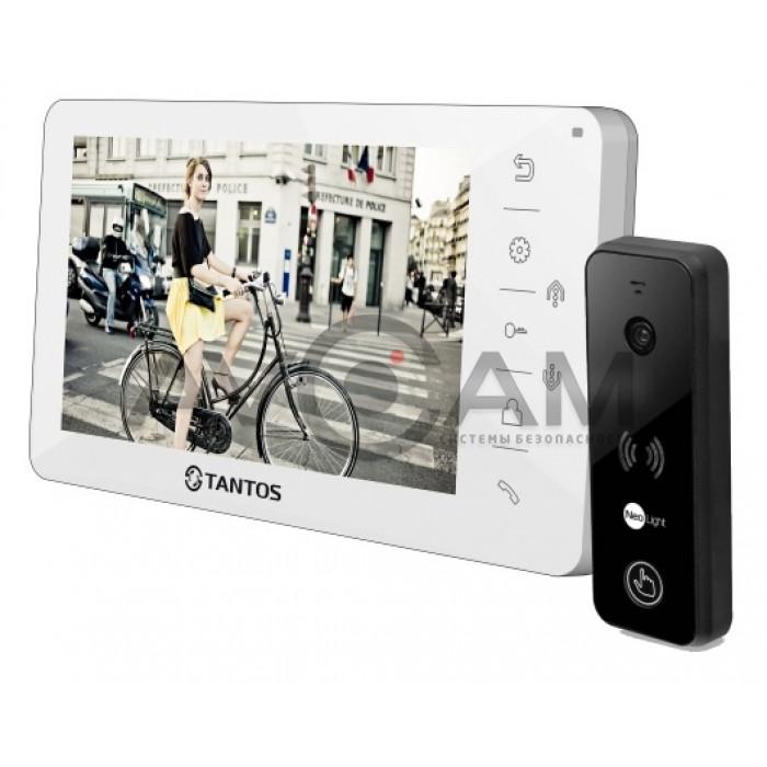 Видеодомофон Tantos Amelie комплект с вызывной металлической панелью