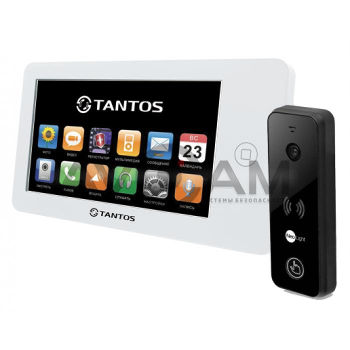 Видеодомофон Tantos NEO комплект с вызывной металлической панелью на 110 градусов