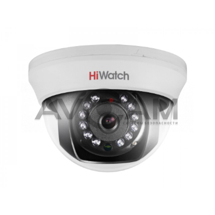 Внутренняя купольная HD-TVI видеокамера с ИК подсветкой HiWatch DS-T101