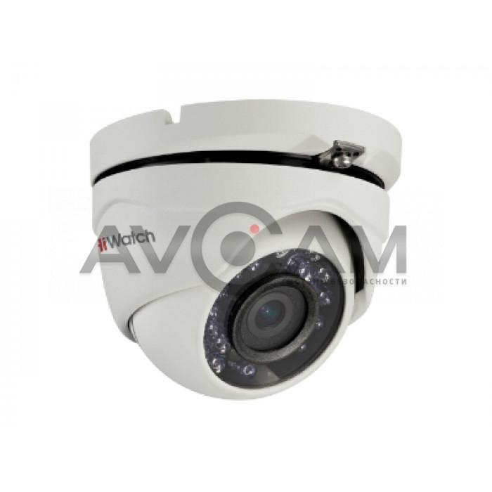 Уличная купольная HD-TVI видеокамера с ИК подсветкой HiWatch DS-T203