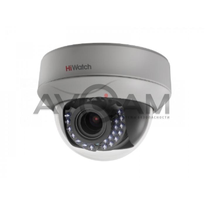 Внутренняя купольная HD-TVI видеокамера с ИК подсветкой HiWatch DS-T207P