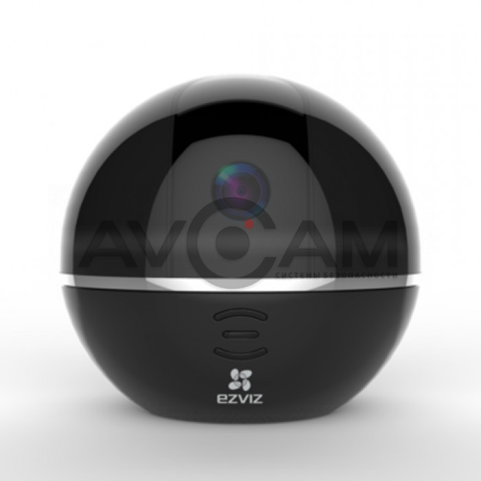 Поворотная IP видеокамера с WIFI и со звуком EZVIZ С6ТС black
