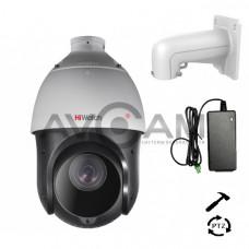 Уличная поворотная IP видеокамера HiWatch DS-I225(B)