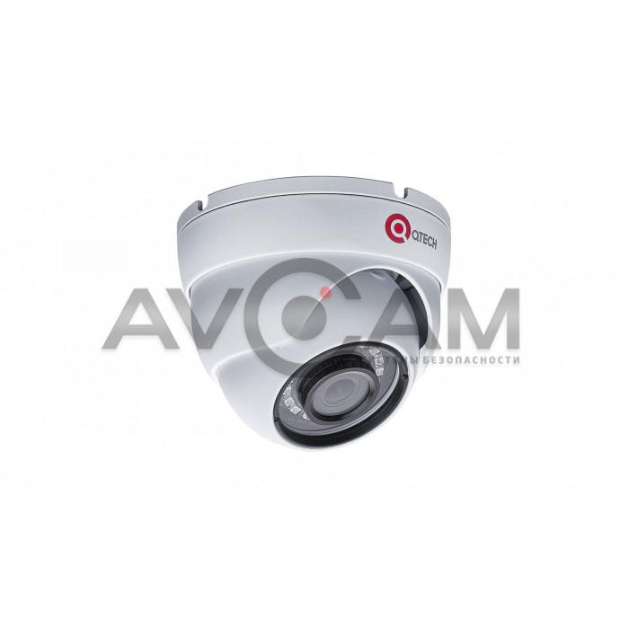 Купольная  антивандальная IP видеокамера QVC-IPC-202V (2.8)
