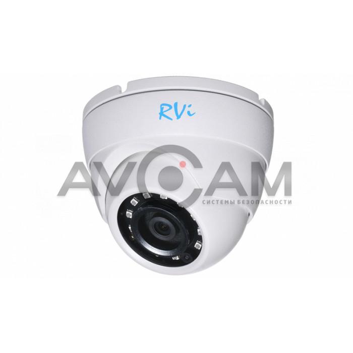 Купольная мультиформатная HD видеокамера RVI-1ACE400 (2.8) WHITE