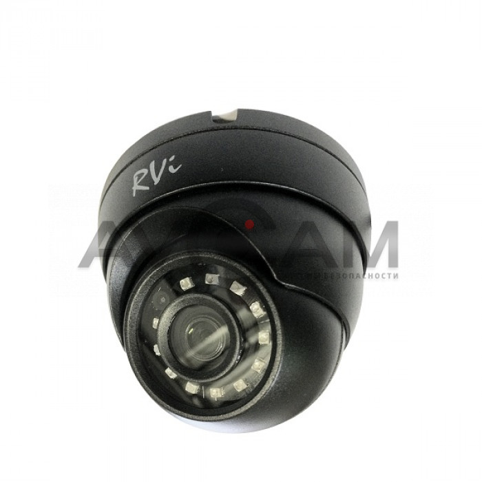 Купольная мультиформатная HD видеокамера RVI-1ACE102 (2.8) black