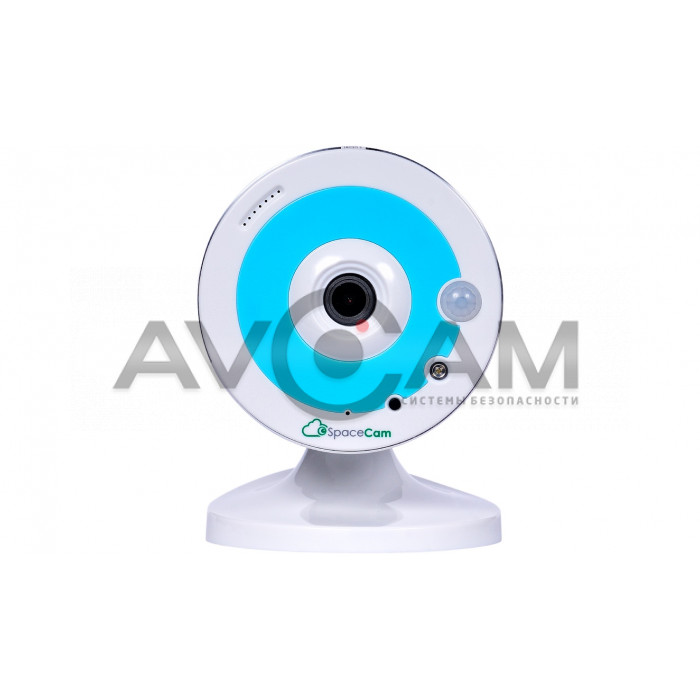Компактная IP видеокамера миникорпусная с WIFI  SpaceCam F1 Blue