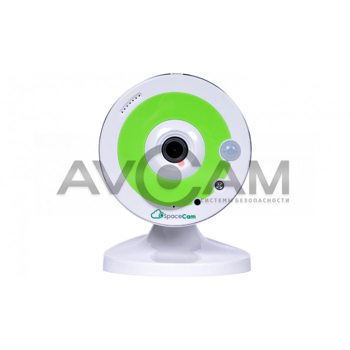 Компактная IP видеокамера миникорпусная с WIFI  SpaceCam F1 Green