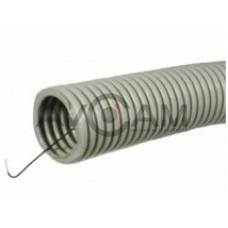 Труба гофрированная 16мм ПНД (черная) с зондом легкая