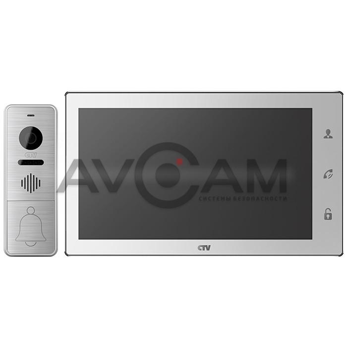 Комплект цветного AHD видеодомофона с датчиком движения CTV-DP4106AHD