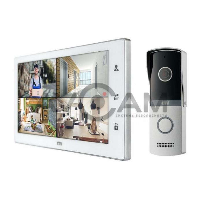 Комплект видеодомофона CTV-M4102FHD (FULL HD) с вызывной панелью CTV-D4003NG