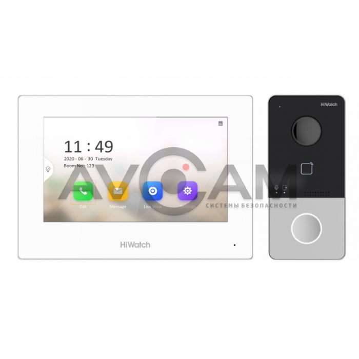 Комплект цветного IP видеодомофона и WIFI DS-D100IKWF