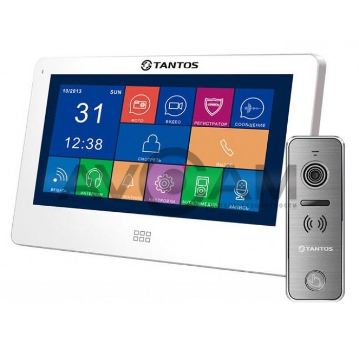 Видеодомофон Tantos NEO Slim комплект с вызывной панелью Ipanel 2 металл+