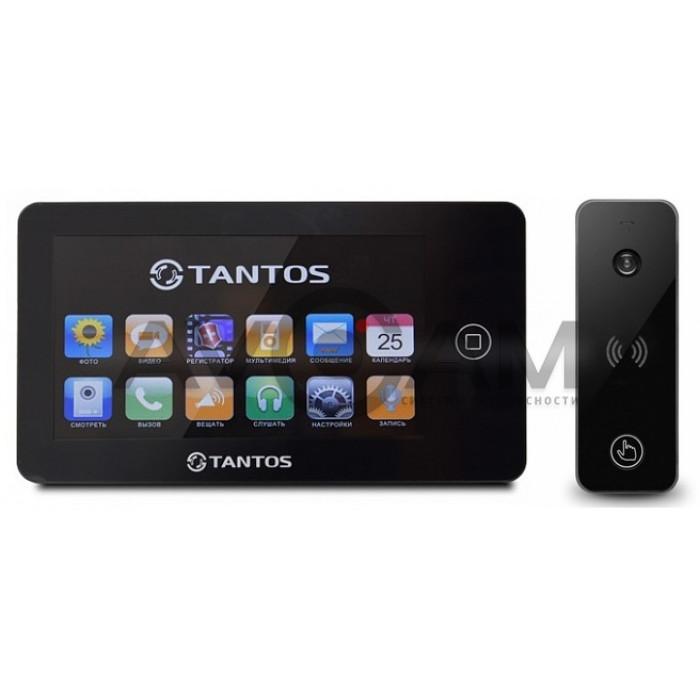 Видеодомофон Tantos NEO комплект с вызывной панелью Ipanel 2 (чёрный)