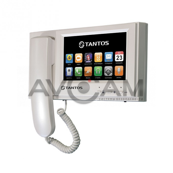 Видеодомофон с трубкой для квартиры, дома и офиса Tantos Loki SD/VZ