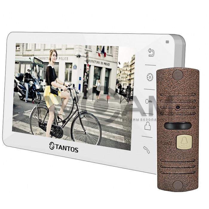 Видеодомофон Tantos Amelie комплект с вызывной панелью CTV-D10NG