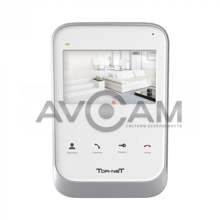 Видеодомофон с памятью для квартиры, дома и офиса Tornet TR-26W