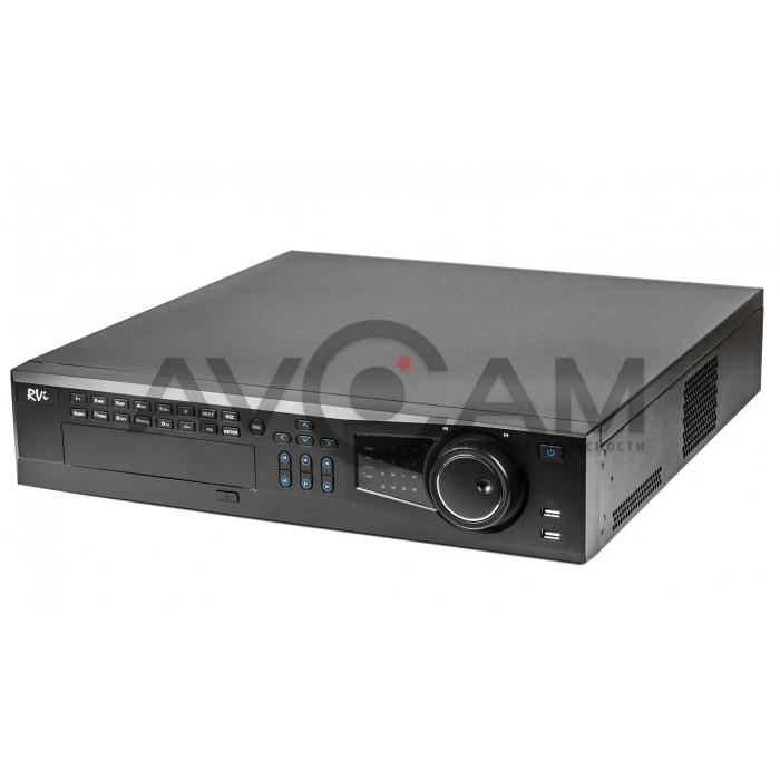 Сетевой 64-канальный Видеорегистратор RVi-IPN64/8-4K V.2