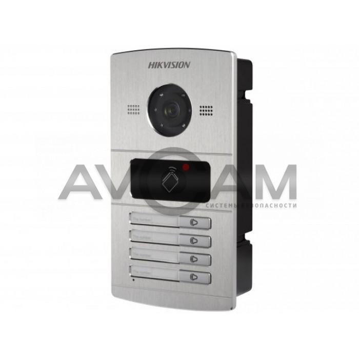 1.3Мп IP вызывная панель на четырёх абонентов с ИК-подсветкой Hikvision DS-KV8402-IM